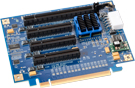 PCIe2-437 Four Slot PCI Express Switched Riser Card